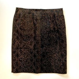 Danier Faux Snake Skin Soft Mini Skirt Size 14